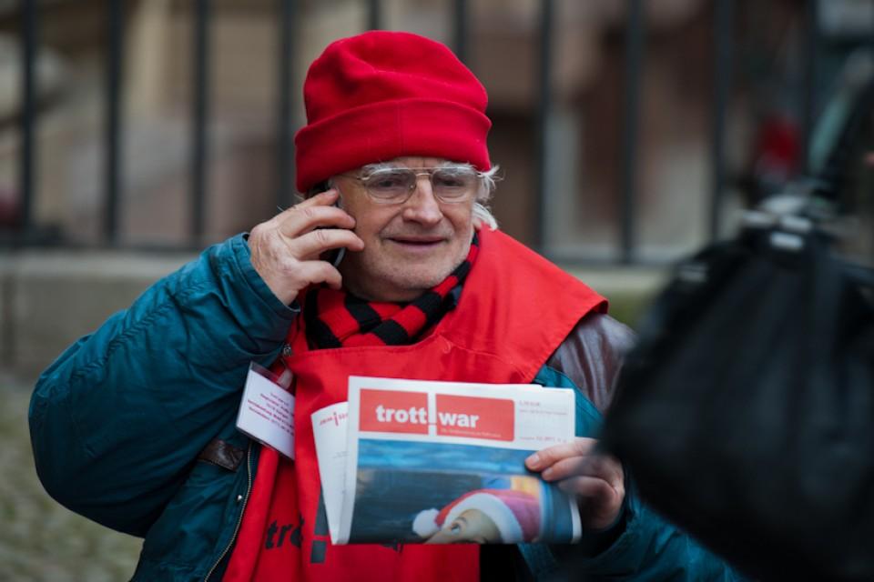 Straßenzeitungsverkäufer Stuttgart